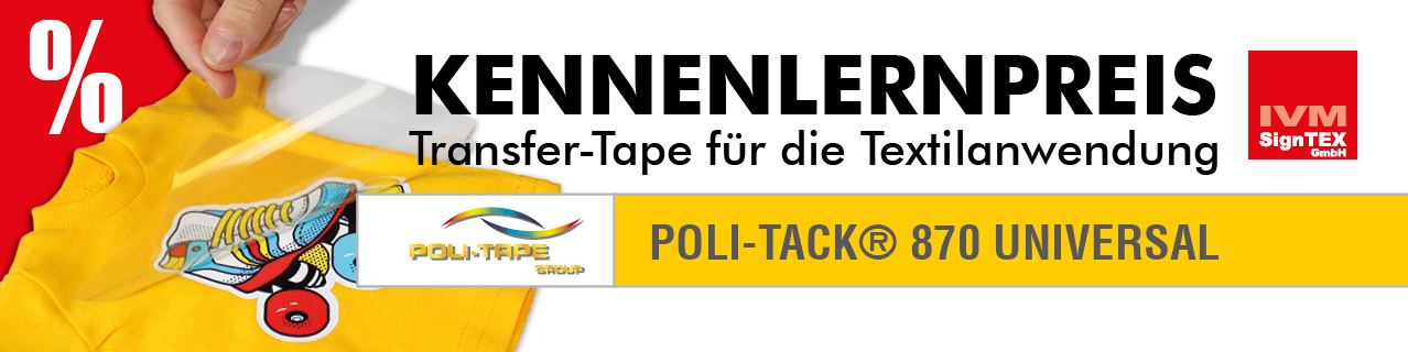 Kennenlern-Aktion: Application-Tape Poli-Tack 870 UNIVERSAL