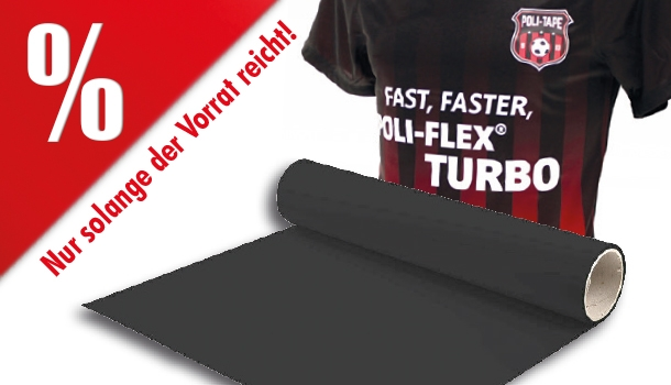 AKTIONSARTIKEL: Poli-Tape POLI-FLEX® Turbo schwarz/ black 4902, Spleißware, 0,5 x 25 m Rolle, Flexfolie